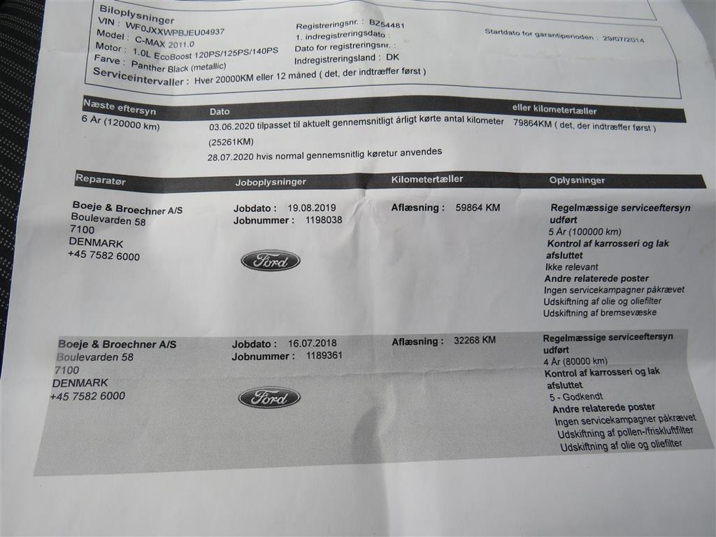 Ford C-MAX 1,0 EcoBoost Titanium 125HK 6g